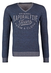 Kaporal Wade Jumper Dark Denim Blue Black Denim