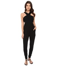 6 Shore Road Coco Floral Diver's Jumpsuit Cover Up Black Rock Women's Jumpsuit And Rompers One Piece