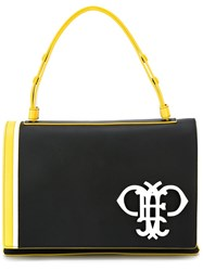 Emilio Pucci Logo Plaque Fold Over Tote Black