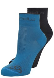 Odlo Basic 2 Pack Sports Socks Graphite Grey Blue Jewel