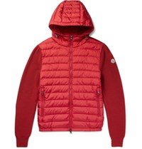 Moncler Maglione Wool Blend And Hell Down Jacket Red