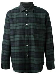 Golden Goose Deluxe Brand Plaid Pattern Shirt Green