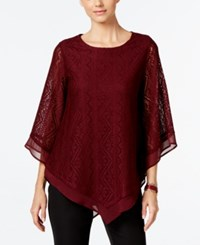 Alfani Lace Poncho Knit Top Only At Macy's Marooned