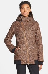 Burton 'Twc Maverick' Waterproof Quilted Jacket Cheeta