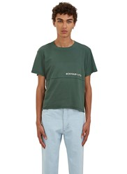 Eckhaus Latta Lapped Printed Panel T Shirt Green