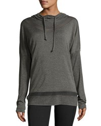 Balance Long Inset Mesh Inset Hoodie H. Charcoa