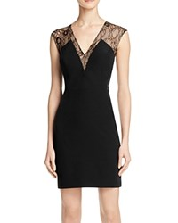 Aqua Illusion Lace Cocktail Dress Black