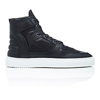 Filling Pieces Men's High Top Transformed Sneakers Black Blue Black Blue