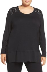 Melissa Mccarthy Seven7 Plus Size Women's Layer Look Embellished Top