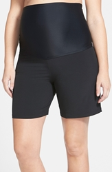Mermaid Maternity Upf 50 Foldover Maternity Board Shorts Black