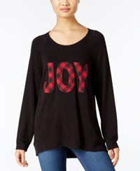 Styleandco. Style Co. Joy Holiday Graphic Top Only At Macy's Deep Black