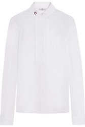 Cavalleria Toscana Plisse Stretch Cotton Blend Poplin Shirt