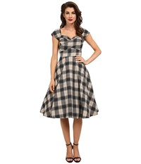 Stop Staring Mad Style Swing Dress Black Plaid Women's Dress