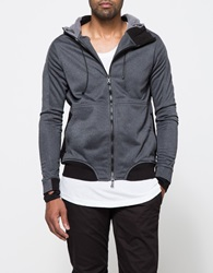 Mhi Integrated Track Hooded Top Charcoal