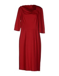 Mine Knee Length Dresses Brick Red