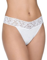 Hanky Panky Cotton With A Conscience Original Rise Thong White