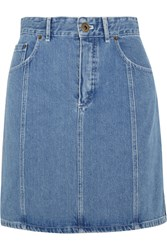 Chloe Denim Mini Skirt Mid Denim