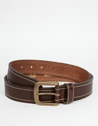 Barbour Leather Belt Brown