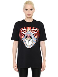 Givenchy Oversize Dog Print Cotton Jersey T Shirt