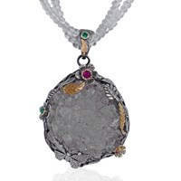 Emma Chapman Jewels Ama Rock Crystal Pendant White