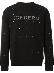 Iceberg Studded Sweatshirt Black