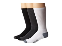 Wigwam Dri Sport 3 Pair Pack Charcoal White Black Men's Crew Cut Socks Shoes Gray