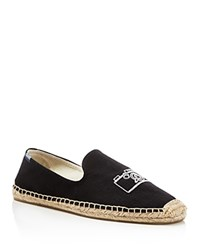 Soludos Embroidered Smoking Slipper Espadrilles Black