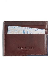 Ted Baker Men's London 'Cooke' Leather Card Case Brown Tan
