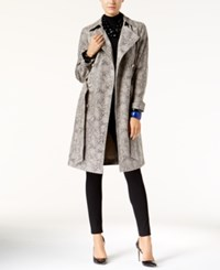 Inc International Concepts Snakeskin Print Faux Leather Trench Coat Only At Macy's Snake Print