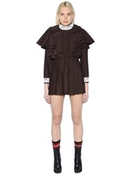 Vetements Pleated School Girl Wool Blend Dress
