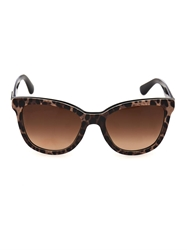 Dolce And Gabbana Leopard Print Round Framed Sunglasses
