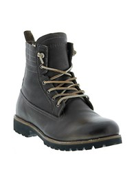 Blackstone Leather Lace Up Boots Gull