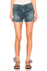 Sandrine Rose Embroidered Mini Shorts In Blue
