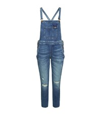 7 For All Mankind Distressed Dungarees Female Blue