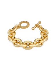 A Z Collection Gold Plated Chain Toggle Bracelet