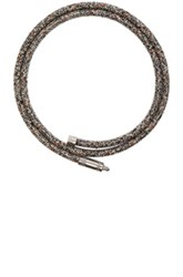 Acne Studios Rope Jack Belt In Black Abstract Black Abstract