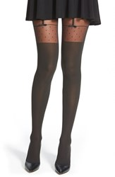 Women's Wolford 'Daphne' Faux Garter Tights Black Black