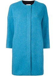 Akris Punto Round Neck Boxy Jacket Blue