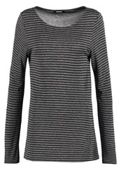 More And More Long Sleeved Top Dark Steel Anthracite