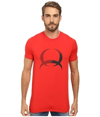 Cinch Athletic Poly Spandex Short Sleeve Tee Shirt Screen Print Red Men's T Shirt