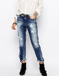Diesel Rizzo Straight Leg Jeans With Distressing Blue