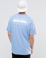 Asos Oversized T Shirt In Pastel Blue With New York Back Print Pale Blue
