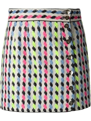 Olympia Le Tan Buttoned Skirt White