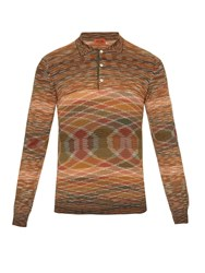 Missoni Striped Long Sleeved Polo Shirt
