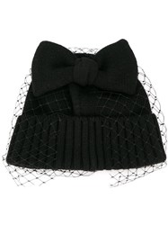 Ca4la Bridal Bow Detail Beanie Black