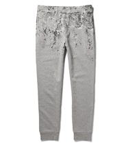 Balenciaga Splatter Print Cotton Jersey Sweatpants Gray