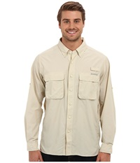 Exofficio Air Strip Long Sleeve Top Bone Men's Long Sleeve Button Up