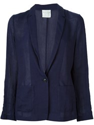 Forte Forte Semi Sheer Lightweight Single Breasted Blazer Blue