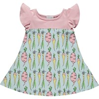 Dancing In The Grass Butterfly Dress Love My Greens Print Nude Neutrals