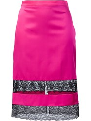 Givenchy Lace Inset Skirt Pink And Purple